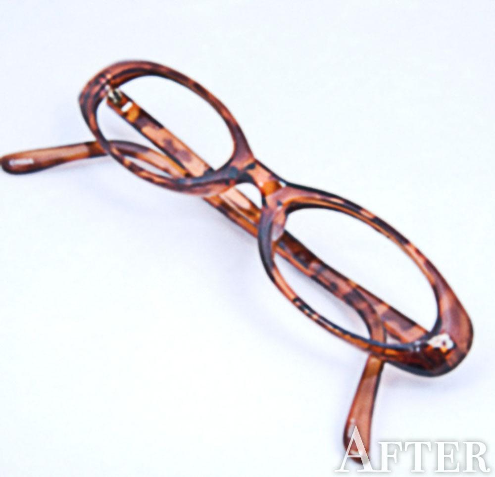 くっきりしたメガネ