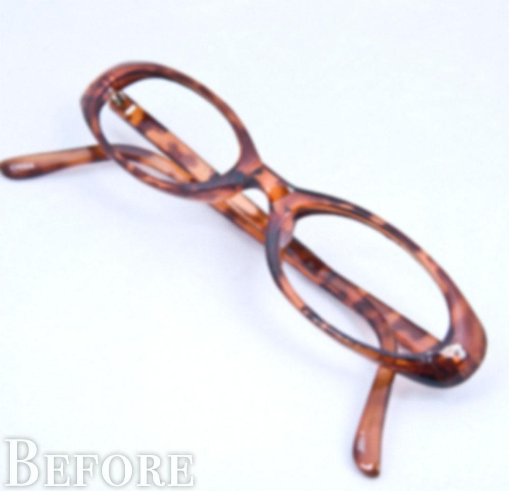 ぼやけたメガネ