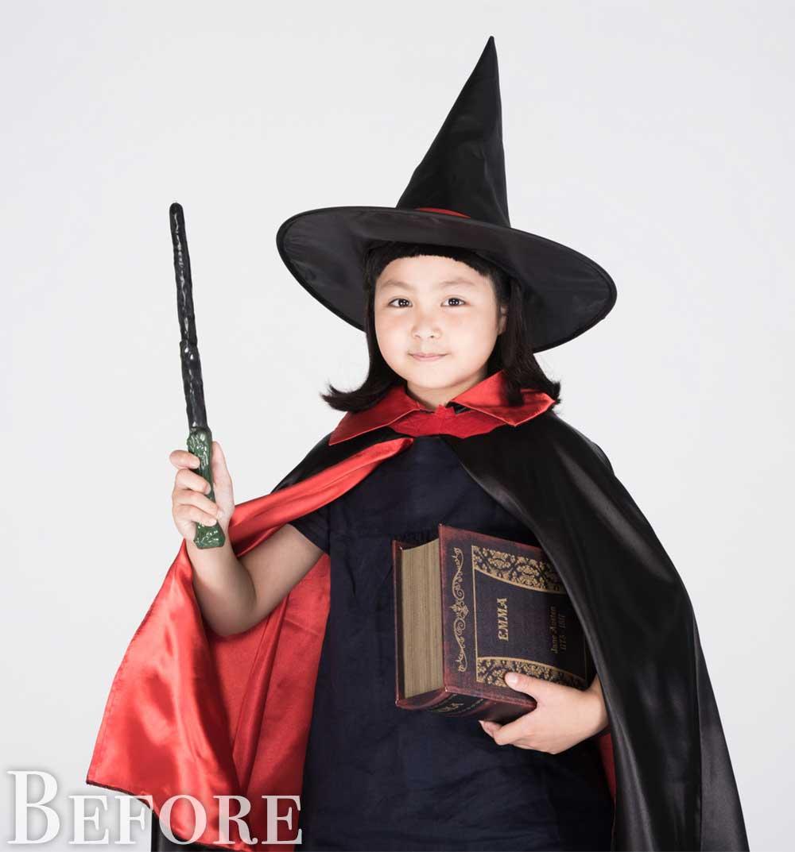 魔法使いのコスプレをした女の子