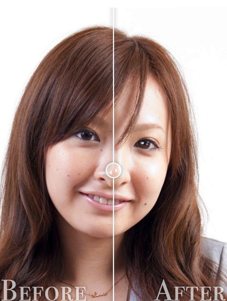目に光を入れる修正before-after