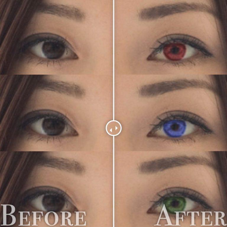 目の色を変更before-after